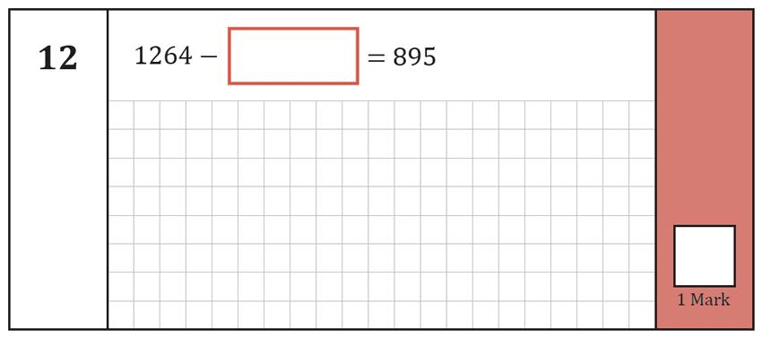 Question 12 Maths KS2 SATs Test Paper 7 - Arithmetic Part A