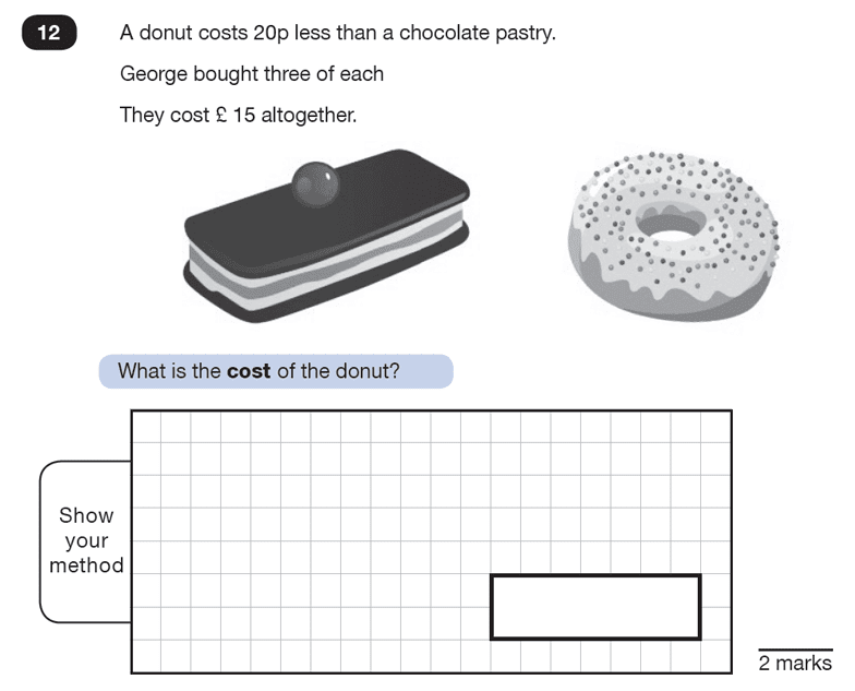 Question 12 Maths KS2 SATs Test Paper 8 - Reasoning Part B