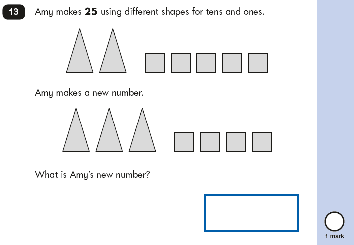 Question 13 Maths KS1 SATs Papers 2018 - Year 2 Past Paper 2 Reasoning, Numbers, Place value, Logical problems