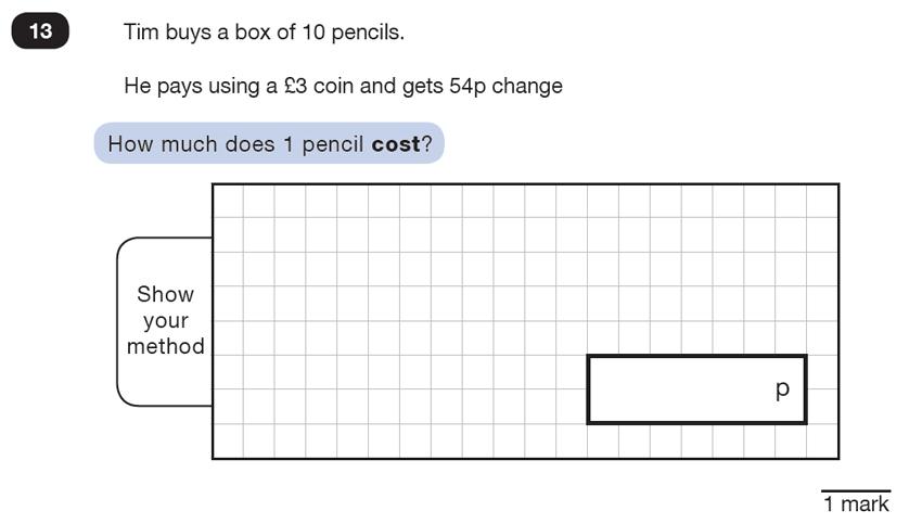 Question 13 Maths KS2 SATs Test Paper 4 - Reasoning Part C