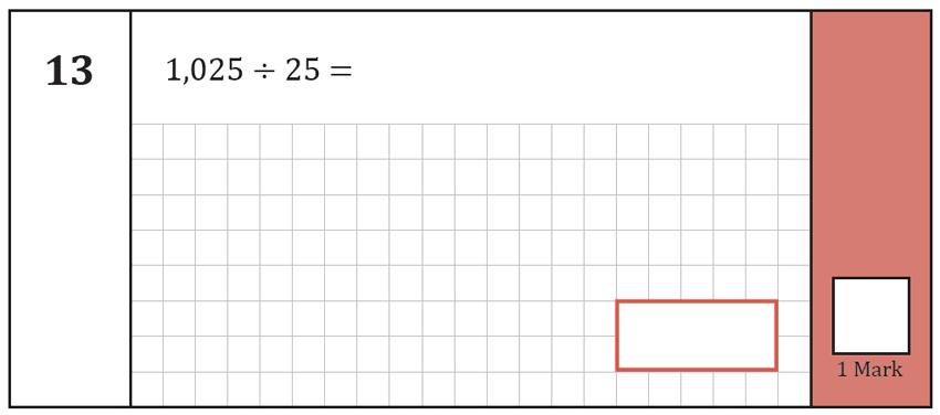 Question 13 Maths KS2 SATs Test Paper 7 - Arithmetic Part A
