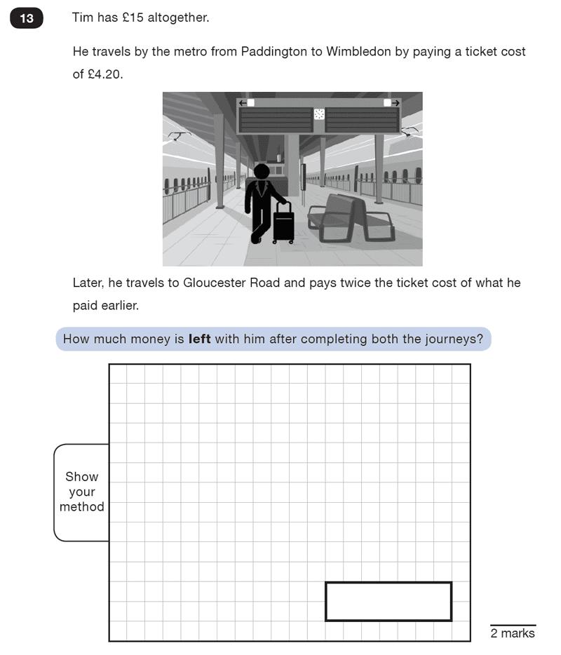 Question 13 Maths KS2 SATs Test Paper 7 - Reasoning Part B