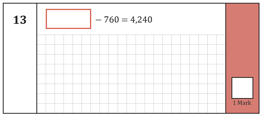 Question 13 Maths KS2 SATs Test Paper 8 - Arithmetic Part A