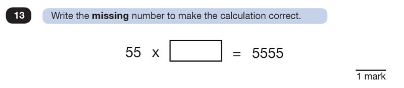 Question 13 Maths KS2 SATs Test Paper 8 - Reasoning Part B