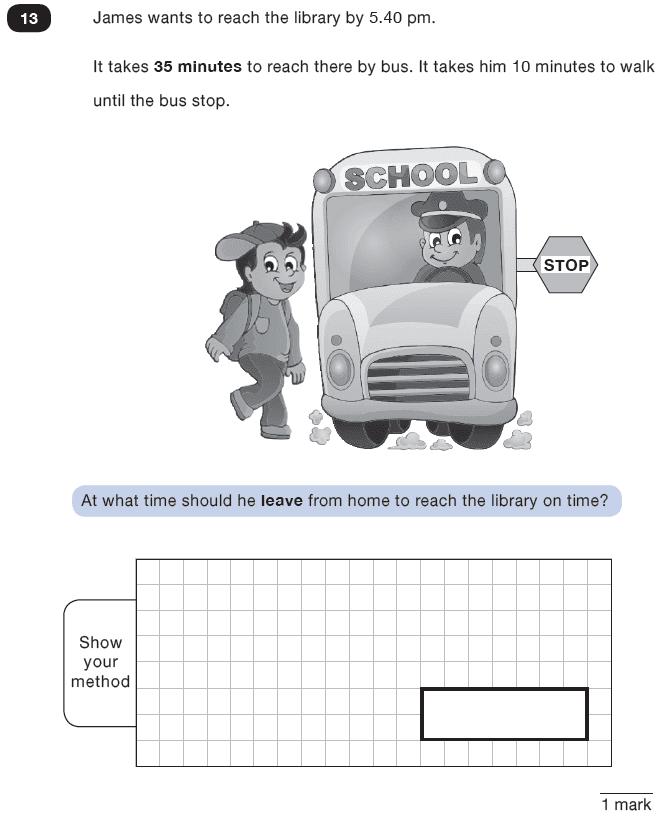 Question 13 Maths KS2 SATs Test Paper 8 - Reasoning Part C