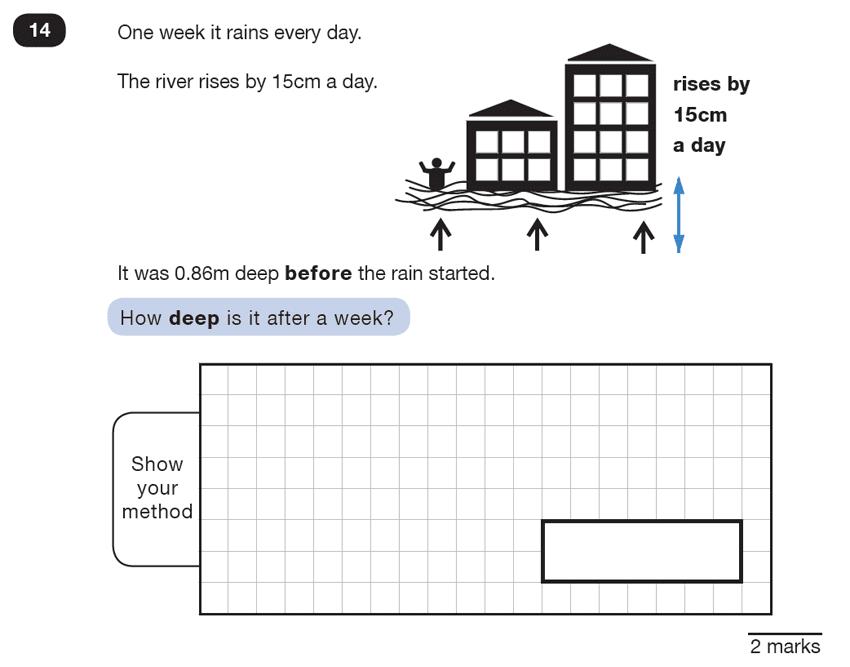 Question 14 Maths KS2 SATs Test Paper 5 - Reasoning Part B