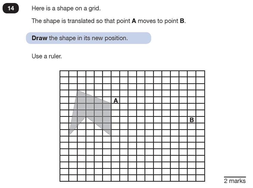 Question 14 Maths KS2 SATs Test Paper 6 - Reasoning Part C