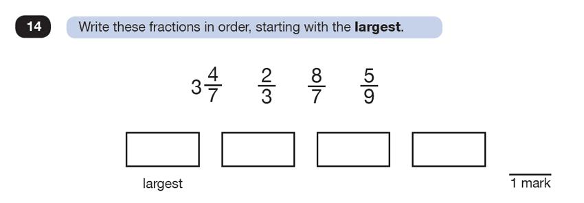 Question 14 Maths KS2 SATs Test Paper 7 - Reasoning Part C