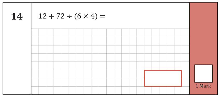 Question 14 Maths KS2 SATs Test Paper 8 - Arithmetic Part A