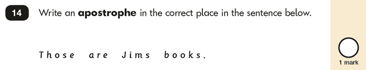 Question 14 SPaG KS1 SATs Papers 2017 - Year 2 English Practice Paper 2, Punctuation