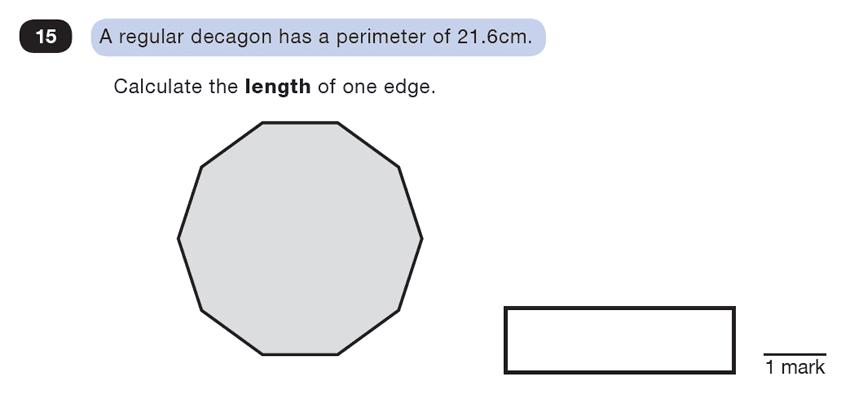 Question 15 Maths KS2 SATs Test Paper 1 - Reasoning Part C