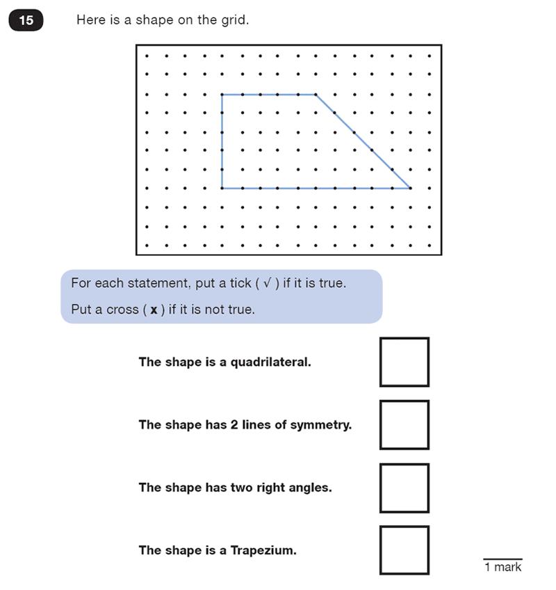 Question 15 Maths KS2 SATs Test Paper 4 - Reasoning Part C