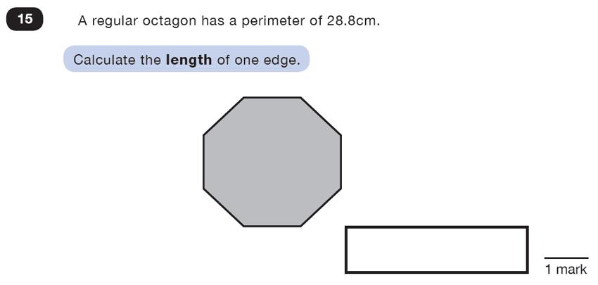 Question 15 Maths KS2 SATs Test Paper 5 - Reasoning Part C