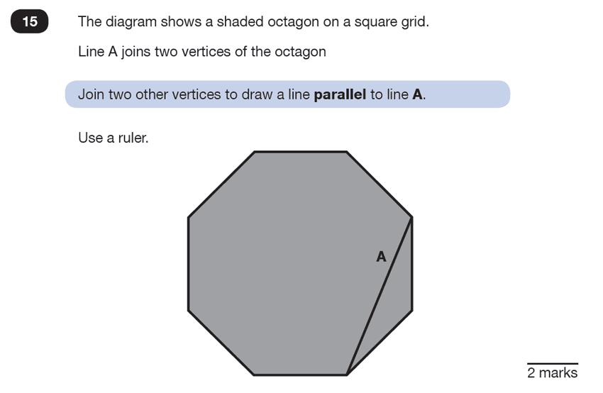 Question 15 Maths KS2 SATs Test Paper 6 - Reasoning Part B