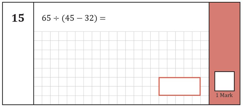 Question 15 Maths KS2 SATs Test Paper 7 - Arithmetic Part A