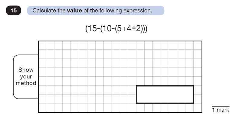 Question 15 Maths KS2 SATs Test Paper 8 - Reasoning Part B