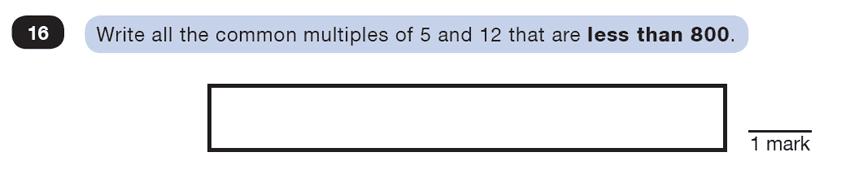 Question 16 Maths KS2 SATs Test Paper 3 - Reasoning Part B
