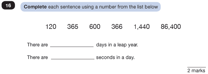 Question 16 Maths KS2 SATs Test Paper 3 - Reasoning Part C