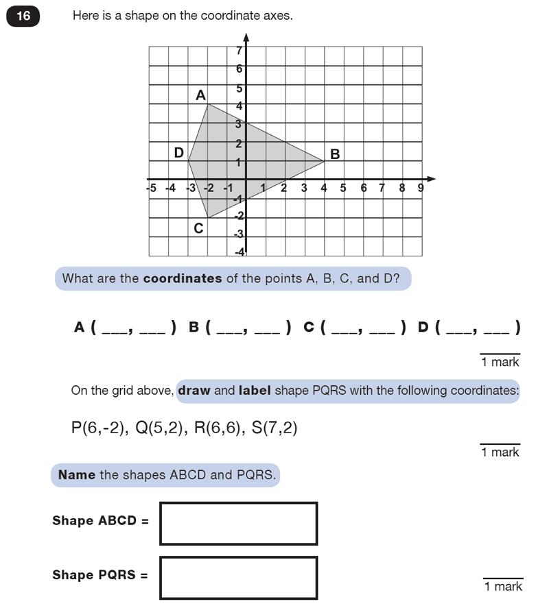 Question 16 Maths KS2 SATs Test Paper 5 - Reasoning Part B