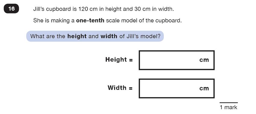 Question 16 Maths KS2 SATs Test Paper 5 - Reasoning Part C