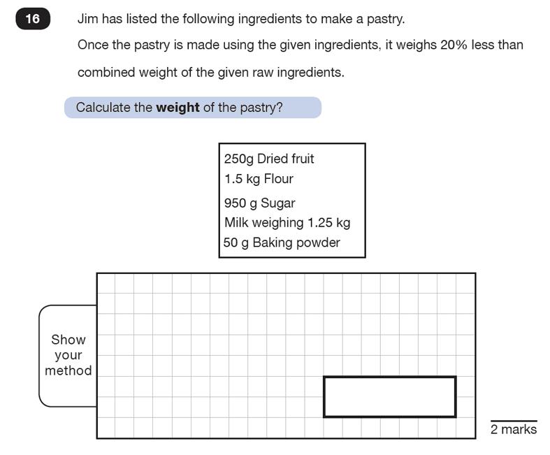 Question 16 Maths KS2 SATs Test Paper 7 - Reasoning Part C