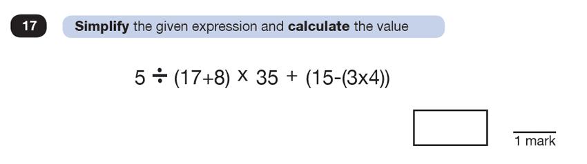 Question 17 Maths KS2 SATs Test Paper 7 - Reasoning Part C