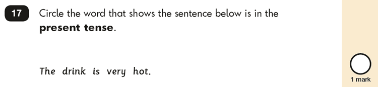Question 17 SPaG KS1 SATs Papers 2018 - Year 2 English Test Paper 2, Verb tenses and consistency