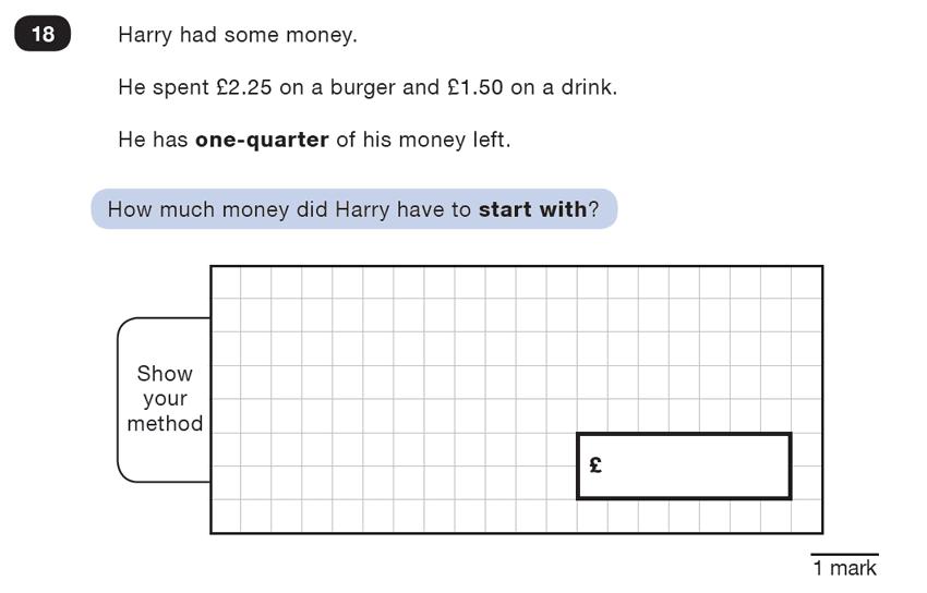 Question 18 Maths KS2 SATs Test Paper 2 - Reasoning Part B