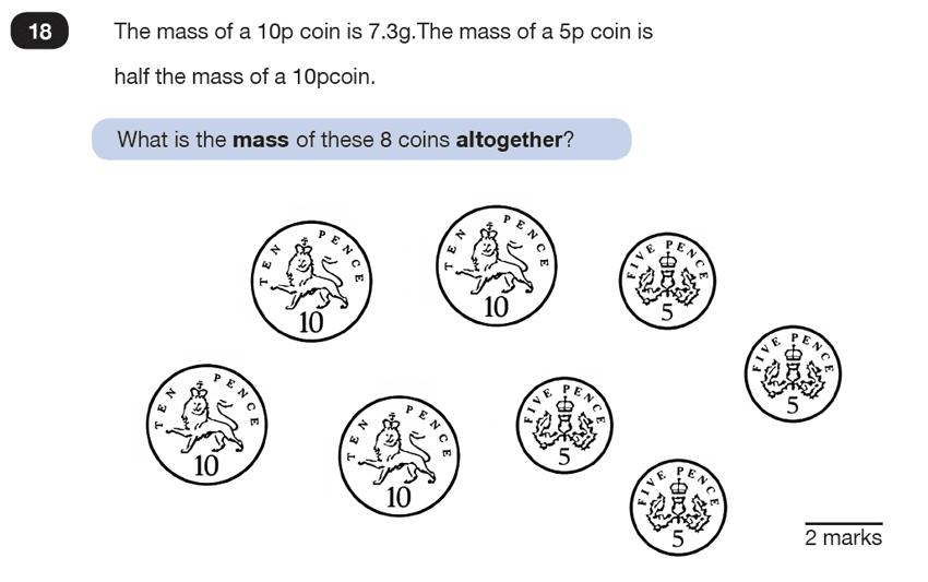 Question 18 Maths KS2 SATs Test Paper 6 - Reasoning Part C