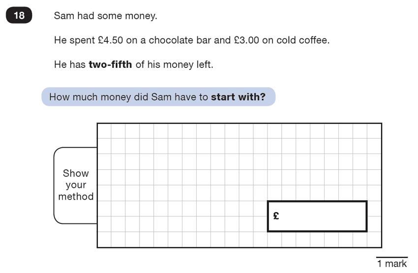 Question 18 Maths KS2 SATs Test Paper 7 - Reasoning Part B