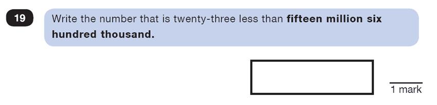 Question 19 Maths KS2 SATs Test Paper 3 - Reasoning Part B
