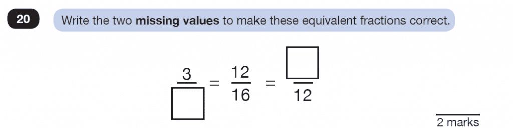 Question 20 Maths KS2 SATs Test Paper 3 - Reasoning Part B