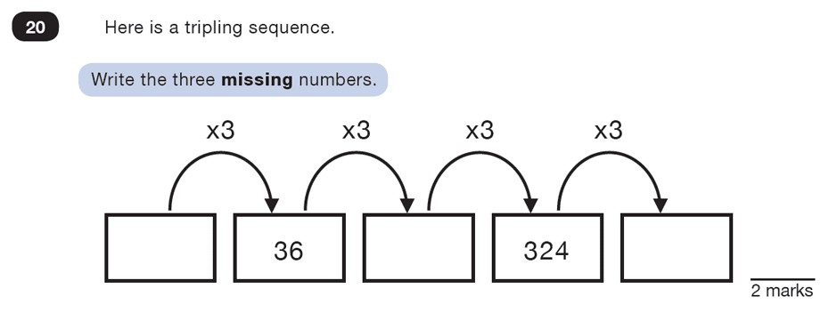Question 20 Maths KS2 SATs Test Paper 4 - Reasoning Part B