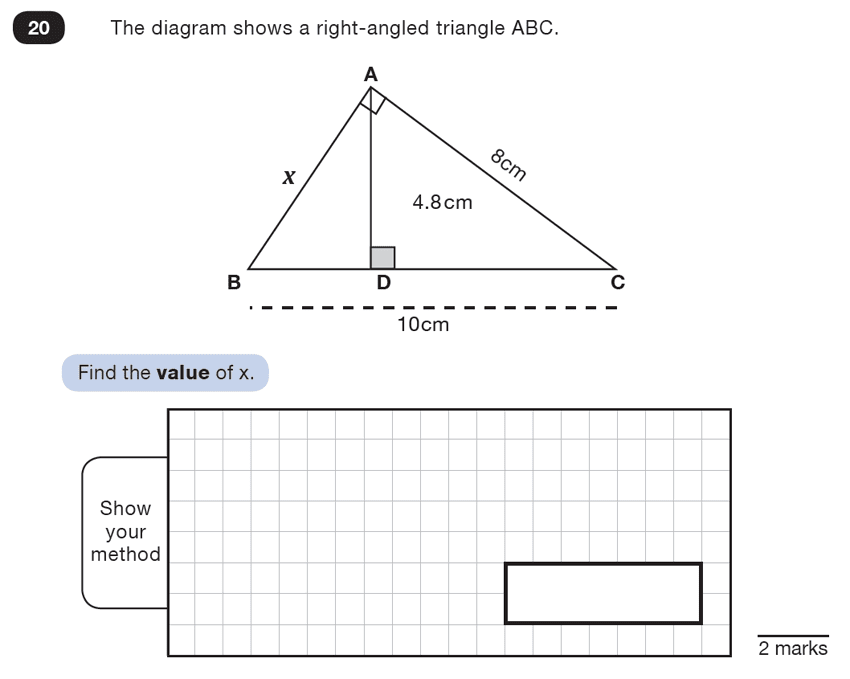 Question 20 Maths KS2 SATs Test Paper 7 - Reasoning Part B