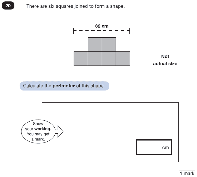 Question 20 Maths KS2 SATs Test Paper 8 - Reasoning Part C