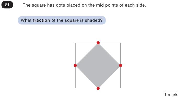 Question 21 Maths KS2 SATs Test Paper 3 - Reasoning Part C