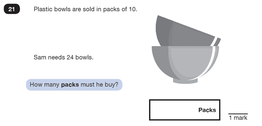 Question 21 Maths KS2 SATs Test Paper 7 - Reasoning Part B
