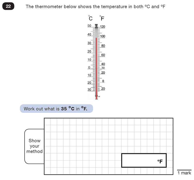 Question 22 Maths KS2 SATs Test Paper 4 - Reasoning Part B