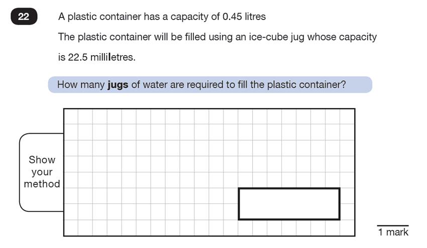 Question 22 Maths KS2 SATs Test Paper 7 - Reasoning Part C