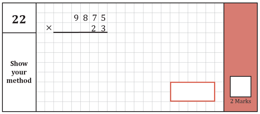 Question 22 Maths KS2 SATs Test Paper 8 - Arithmetic Part A
