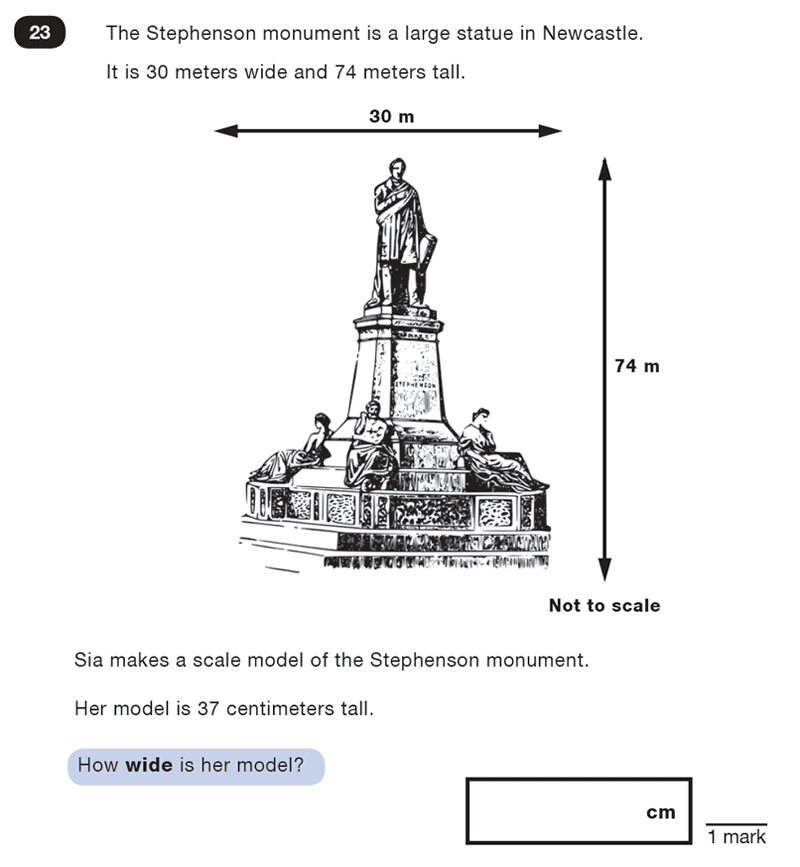 Question 23 Maths KS2 SATs Test Paper 1 - Reasoning Part C