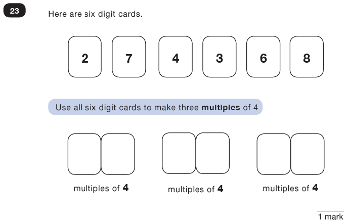 Question 23 Maths KS2 SATs Test Paper 3 - Reasoning Part C
