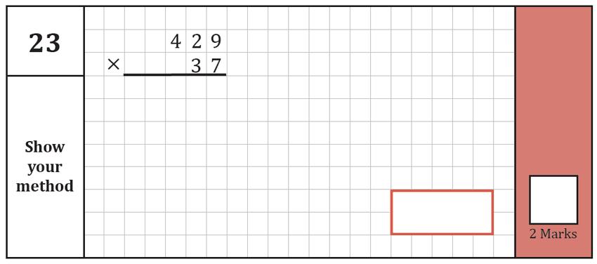 Question 23 Maths KS2 SATs Test Paper 7 - Arithmetic Part A