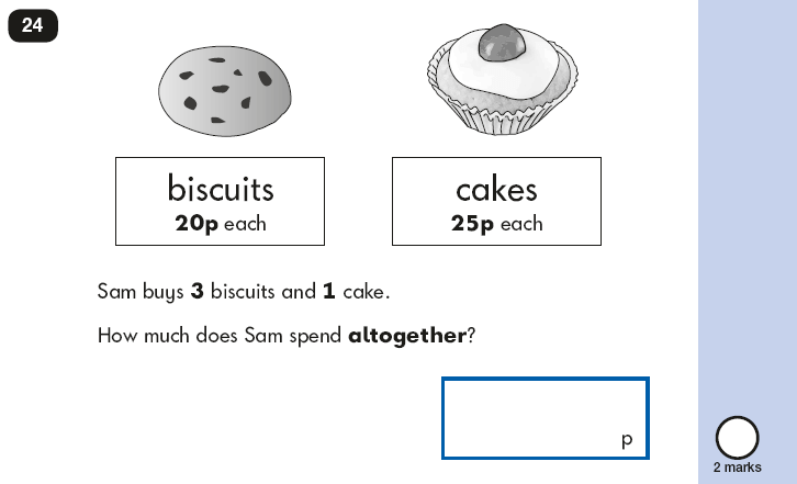 Question 24 Maths KS1 SATs Papers 2018 - Year 2 Past Paper 2 Reasoning, Calculations, Addition, Multiplication, Word problems