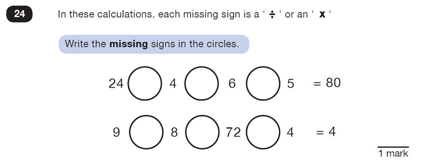 Question 24 Maths KS2 SATs Test Paper 5 - Reasoning Part B