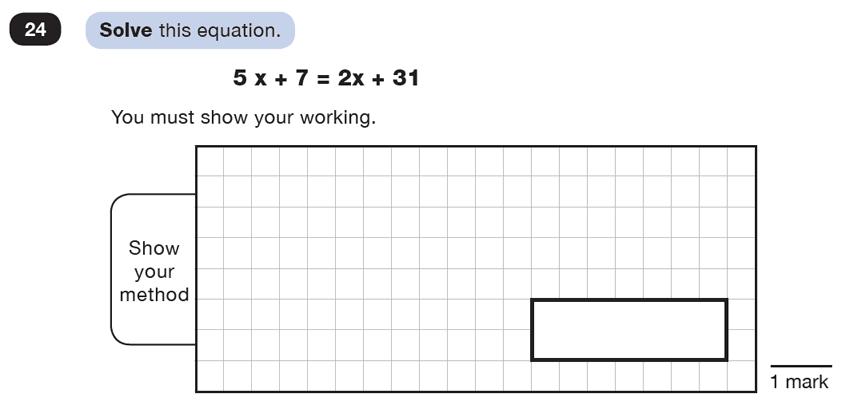 Question 24 Maths KS2 SATs Test Paper 5 - Reasoning Part C