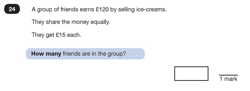 Question 24 Maths KS2 SATs Test Paper 6 - Reasoning Part B