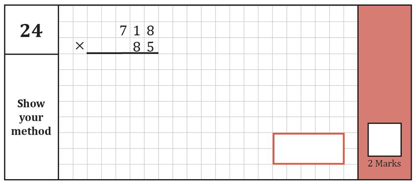 Question 24 Maths KS2 SATs Test Paper 8 - Arithmetic Part A