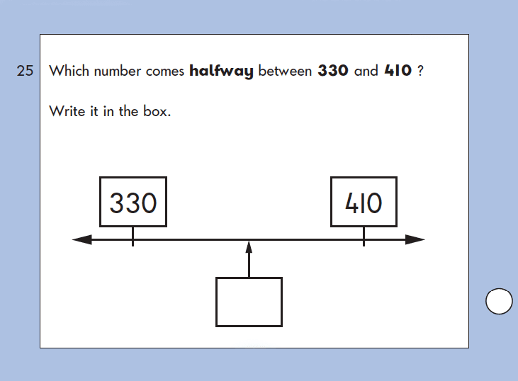 Question 25 Maths KS1 SATs Papers 2004 - Year 2 Past Paper 2, Calculations, Addition, Division, Logical problems