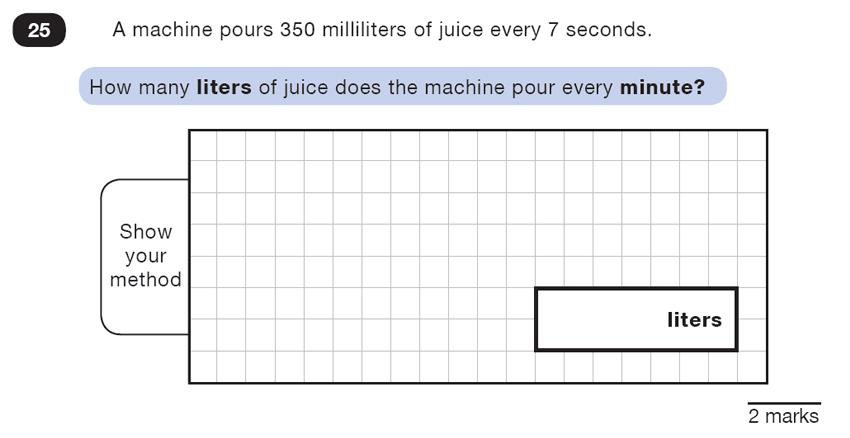 Question 25 Maths KS2 SATs Test Paper 1 - Reasoning Part C